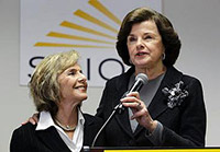 Sentators Boxer and Feinstein speaking together