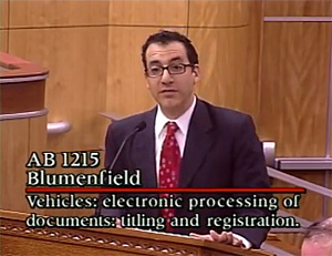 Blumenfield testifies for AB 1215