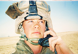 Cpl. William Woods on duty in Iraq