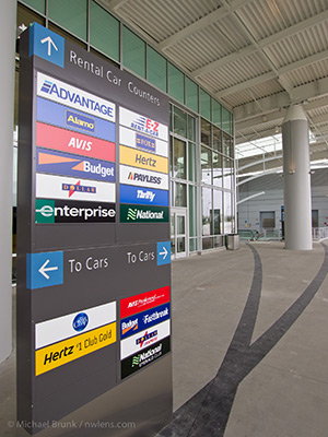 Rental car companies at the airport